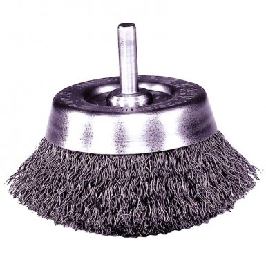 Weiler 14301 Stem-Mounted Crimped Wire Cup Brushes