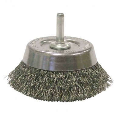 Weiler 14302 Stem-Mounted Crimped Wire Cup Brushes