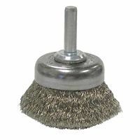 Weiler 14303 Stem-Mounted Crimped Wire Cup Brushes
