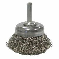 Weiler 14304 Stem-Mounted Crimped Wire Cup Brushes