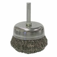 Weiler 14306 Stem-Mounted Crimped Wire Cup Brushes