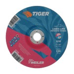 Weiler 57074 Tiger A24S Long Life Depressed Center Grinding Wheels