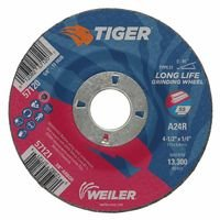 Weiler 57121 Tiger A24S Long Life Depressed Center Grinding Wheels