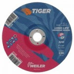 Weiler 57125 Tiger A24S Long Life Depressed Center Grinding Wheels