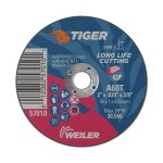 Weiler 57010 Tiger Aluminum Oxide Type 1 Cutting Wheel