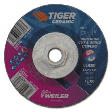 Weiler 58316 Tiger Ceramic Combo Wheels