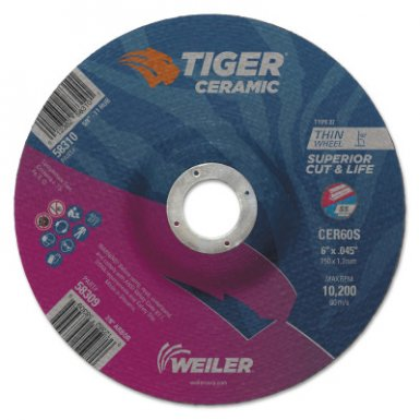 Weiler 58309 Tiger Ceramic Cutting Wheels
