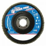 Weiler 51102 Tiger Paw Coated Abrasive Flap Discs