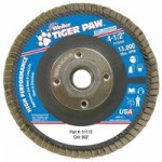 Weiler 51115 Tiger Paw Coated Abrasive Flap Discs