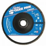 Weiler 51138 Tiger Paw Coated Abrasive Flap Discs