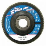 Weiler 51161 Tiger Paw Coated Abrasive Flap Discs
