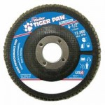 Weiler 51163 Tiger Paw Coated Abrasive Flap Discs