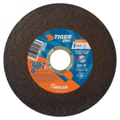Weiler 58006 Tiger Zirconia Ultracut Thin Cutting Wheels