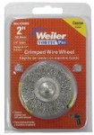 Weiler 36011 Vortec Pro Stem Mounted Crimped Wire Wheels