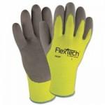 Wells Lamont Y9239L FlexTech Hi-Visibility Knit Gloves with Nitrile Palm