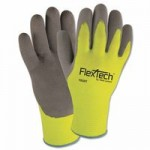Wells Lamont Y9239S FlexTech Hi-Visibility Knit Gloves with Nitrile Palm