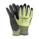 Wells Lamont Y9236M FlexTech Y9236 Hi-Viz Yellow Sandy Nitrile Palm Cut Gloves