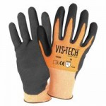 Wells Lamont Y9296L Vis-Tech Cut-Resistant Gloves with Nitrile Coated Palm