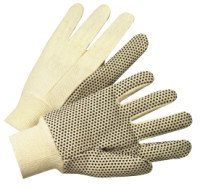 West Chester K01PDJI Dotted Canvas Gloves
