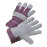 West Chester 400-SC Economy Split Cowhide Palm Starch Cuff Gloves
