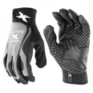 West Chester 89302GY/M Extreme Work LocX-On Grip Gloves