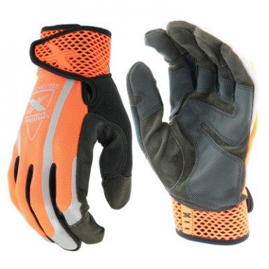 West Chester 89308OR/L Extreme Work VizX Safety Gloves