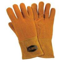 West Chester 6030/XL Ironcat Insulated Top Grain Reverse Deerskin MIG Welding Gloves