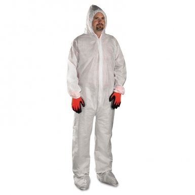 West Chester 3409/L PE Laminate Protective Coveralls