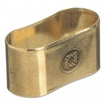Western Enterprises 9116 Oval Brass Dual Hose Braces