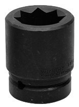 Wright Tool 8815 8 Point Double Square Impact Railroad Sockets